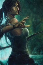 Preview iPhone wallpaper Lara Croft in the jungle, Tomb Raider