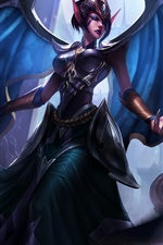 League of Legends, garota de fantasia, asas, elf, hall