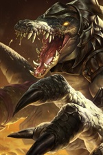 Preview iPhone wallpaper League of Legends, monster, teeth, art picture
