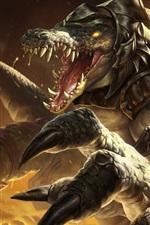 League of Legends, monstro, dentes, imagens de arte