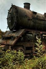 Locomotiva, velho trem, ferrovia