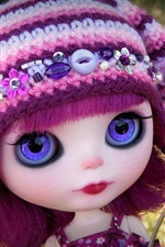 Preview iPhone wallpaper Lovely doll, dandelion, toy girl