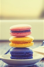 Preview iPhone wallpaper Macaroon, notepad, glasses