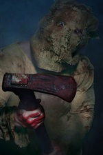 Preview iPhone wallpaper Maniac, mask, axe, blood