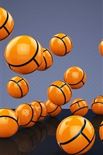 Preview iPhone wallpaper Many 3D yellow balls