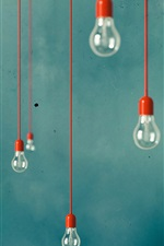 Preview iPhone wallpaper Many electricity light bulbs