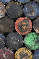 Many oil barrels, colors