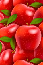 Preview iPhone wallpaper Many red apples, creative design
