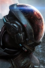 Preview iPhone wallpaper Mass Effect, EA games, space, planet