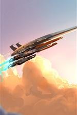 Mass Effect, Normandia, lutador, imagens de arte