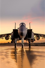 Preview iPhone wallpaper McDonnell Douglas F-15SA fighter front view