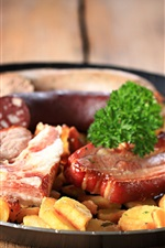 Preview iPhone wallpaper Meat, potatoes, pan