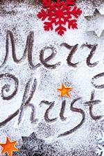 iPhone fondos de pantalla Feliz Navidad, copos de nieve, ciervos, bayas