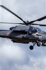 Preview iPhone wallpaper Mi-28N helicopter flight