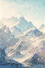iPhone обои Горы, снежные, зимние