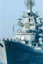 Preview iPhone wallpaper Nuclear missile cruiser, army, sea