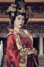 Preview iPhone wallpaper Oriental girl, China, retro style