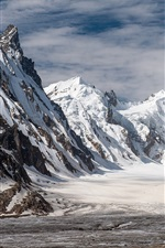 Preview iPhone wallpaper Pakistan, Biafo glacier, winter, snow, mountains