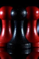 iPhone fondos de pantalla Peones, ajedrez, oscuridad
