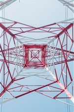 Preview iPhone wallpaper Power line tower