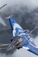 Preview iPhone wallpaper Rafale multi-role fighter, French