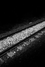 Preview iPhone wallpaper Railroad, black and white style