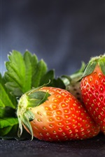 Preview iPhone wallpaper Ripe strawberry, fruit