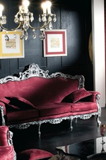 Preview iPhone wallpaper Room interior, royal style, sofa