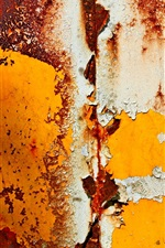 Preview iPhone wallpaper Rust metal surface, paint