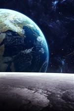 Preview iPhone wallpaper Satellite, planet, universe