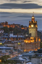 Scotland, Edinburgh, night, city