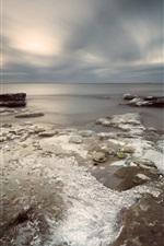 Preview iPhone wallpaper Sea, ice, coast, winter
