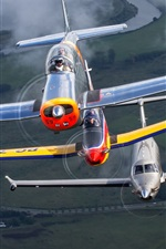 Preview iPhone wallpaper Single-engine turboprop planes flight