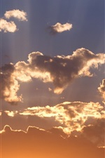 Preview iPhone wallpaper Sky, clouds, sunset, birds