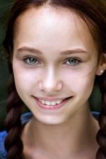 Smile girl, braid, bokeh