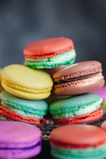 Preview iPhone wallpaper Some delicious macaroons, cakes, colorful