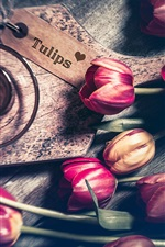 Preview iPhone wallpaper Some tulips, flowers