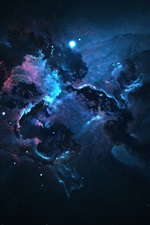 Preview iPhone wallpaper Space, galaxy, nebula, darkness