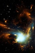 iPhone fondos de pantalla Espacio, estrellas, luz, universo
