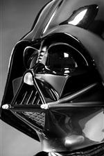 Preview iPhone wallpaper Star Wars, Darth Vader, helmet