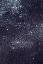Estrelado, noite, espaço