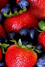 Preview iPhone wallpaper Strawberry and blueberry, delicious fruit
