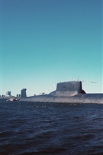 Preview iPhone wallpaper Submarine, underwater, sea
