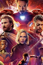 Preview iPhone wallpaper Superheroes, Avengers: Infinity War 2018