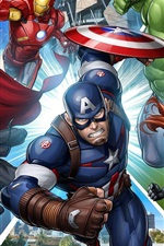Preview iPhone wallpaper Superheroes, Marvel comics art picture