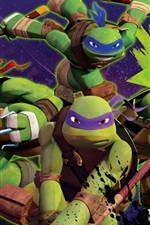 Preview iPhone wallpaper Teenage Mutant Ninja Turtles, TV series, anime