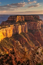 Preview iPhone wallpaper The Grand Canyon, mountains, rocks, sunset, USA