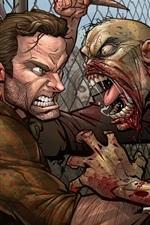 Vorschau des iPhone Hintergrundbilder The Walking Dead, Zombie, Kunstbild