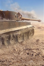 Preview iPhone wallpaper Tiger 131 tank, World of Tanks, video games
