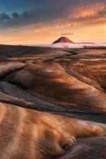 iPhone fondos de pantalla Parque Nacional Tongariro, Nueva Zelanda, montañas, desierto